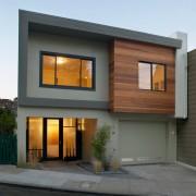 Двуъэтажный дом с необычным дизайном