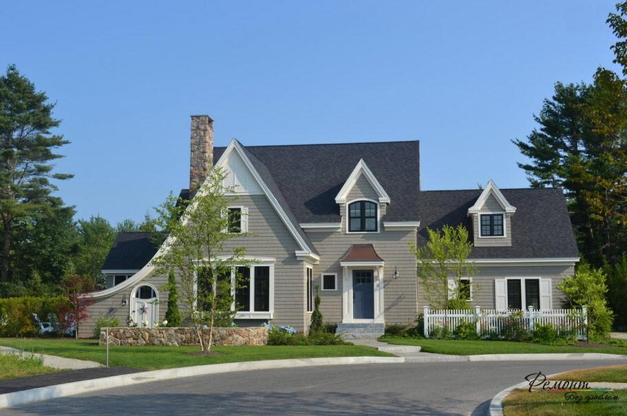 Впечатляющий фасад дома