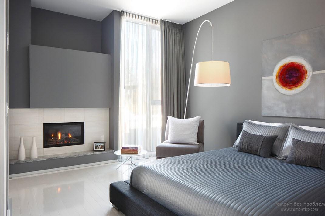 Серый цвет - лучшее решение для современной спальни