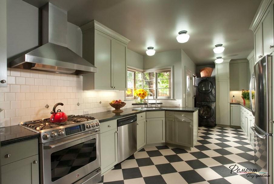 В современной кухне уместнее будет мойка из нержавейки