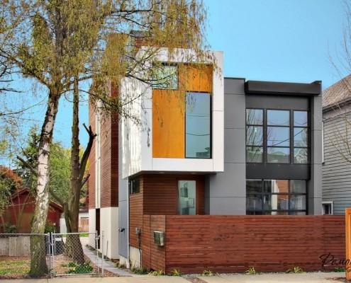 Дизайн фасада дома в современных стилях