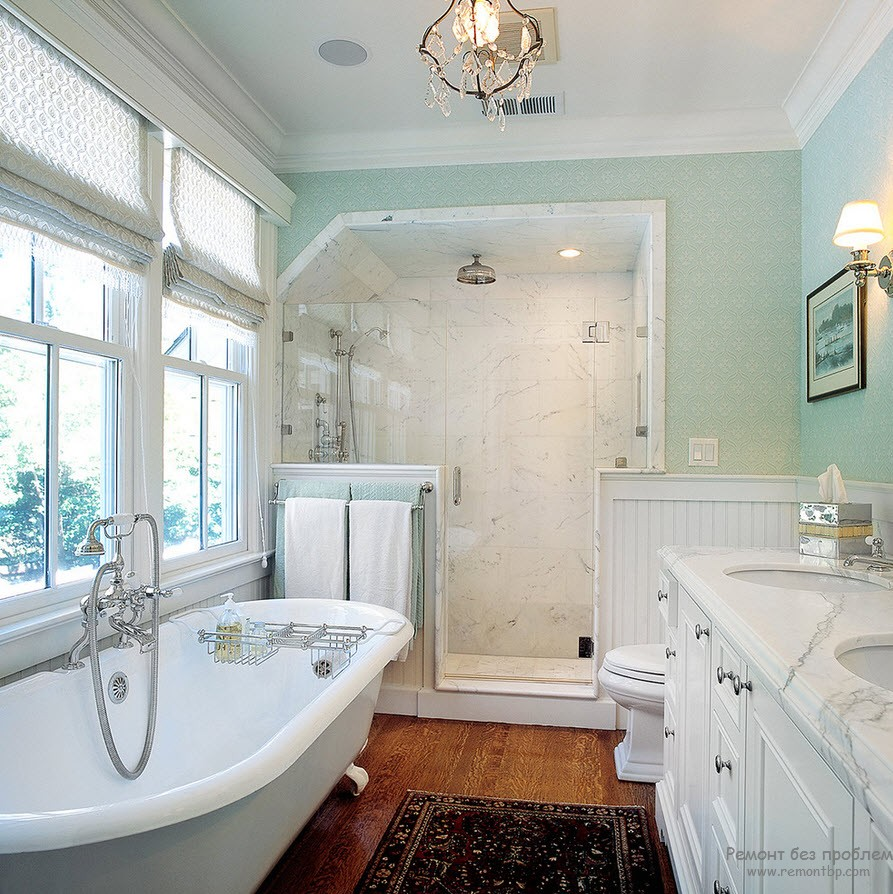 Расположение ванной мебели