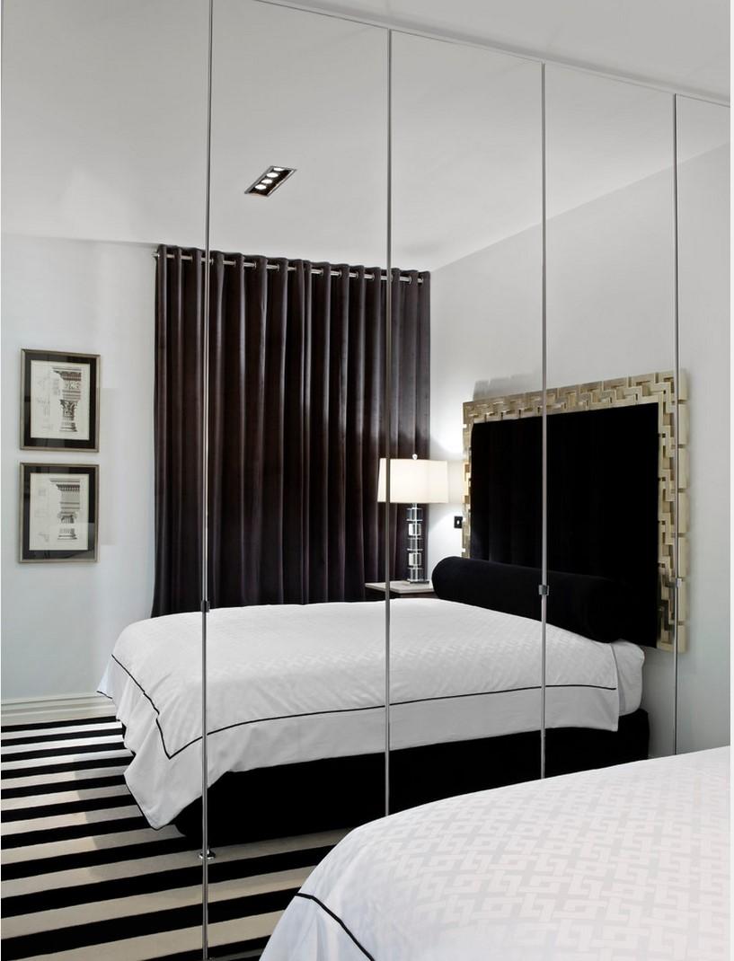 Зеркала сбоку кровати не рекомендуются