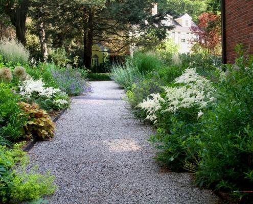 Разные цветы в соседстве с астильбой