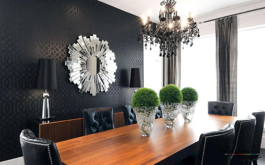 Черные обои в интерьере квартиры: идеи темного дизайна стен на фото