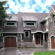 Симпатичный дизайн лвухэтажного дома