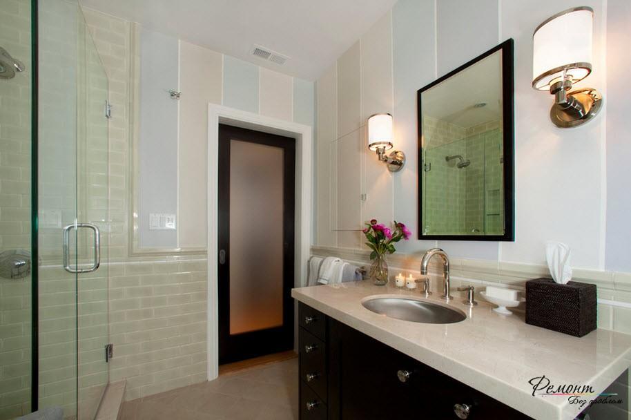 закаленное стекло в ванной комнате фото