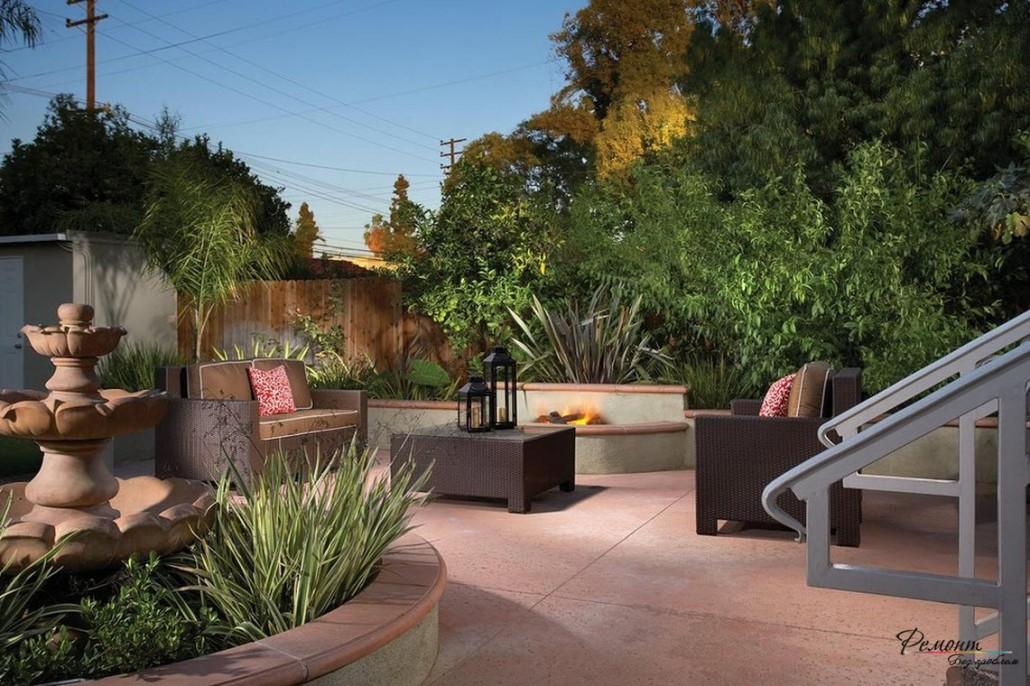Дизайн двора частного дома: главные принципы