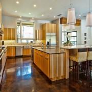 Кухонный пол из мрамора