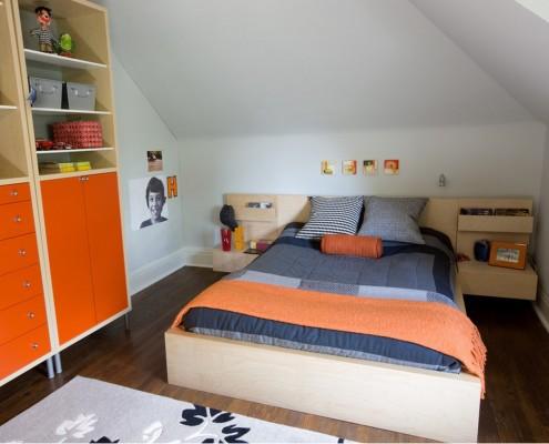 Оранжевый цвет в качестве акцента