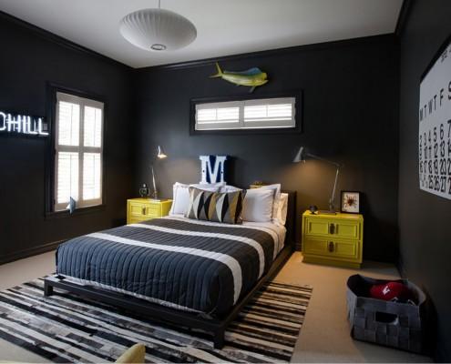 Преодладание черного цвета в комнате подростка недопустимо