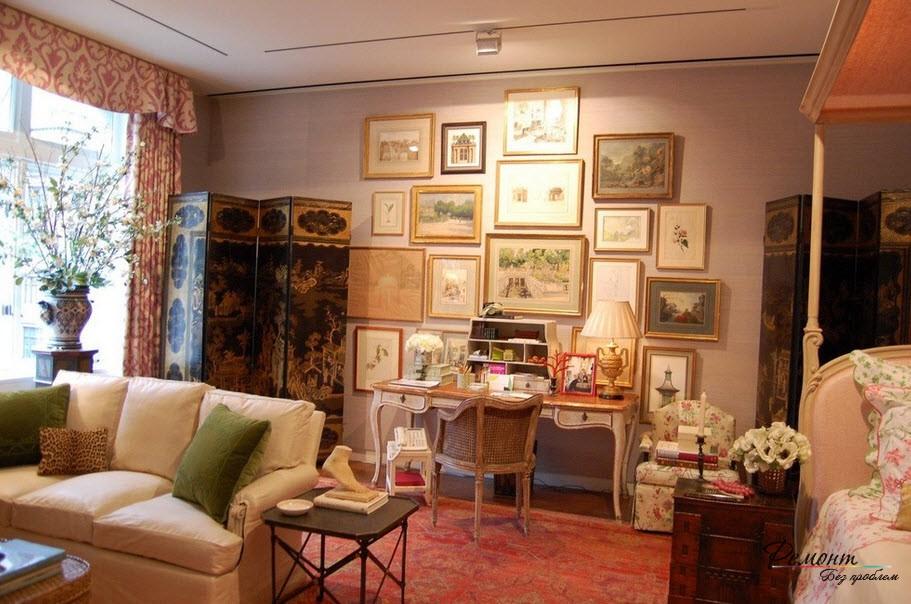 Картины на стене в спальне