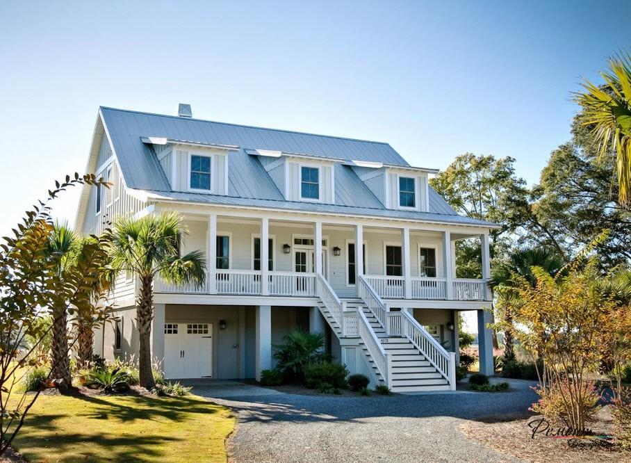 Роскошные дома в американском стиле: дизайн фасада и экстерьера на фото