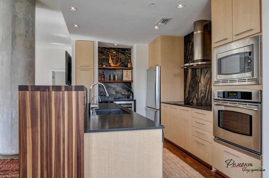 Кухни 9 кв метров дизайн реальные 142