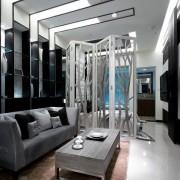 Комната в серых тонах