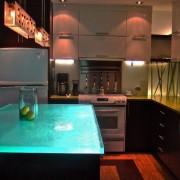 Необычная подсветка кухни