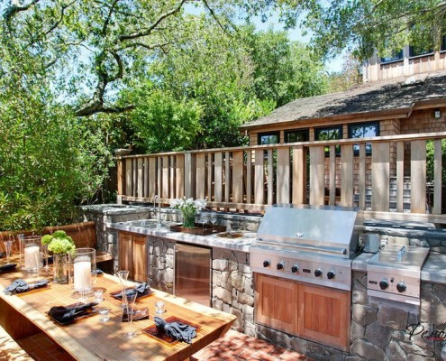 Кухня на улице - райский уголок