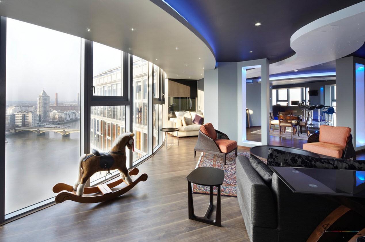 Черный (темный) потолок в интерьере квартиры: стильные идеи дизайна на фото