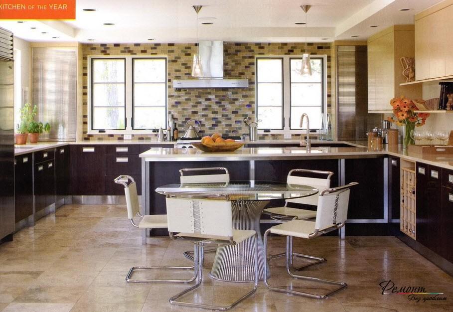 Дизайн кухни с двумя окнами фото 2015 современные идеи 20 кв м