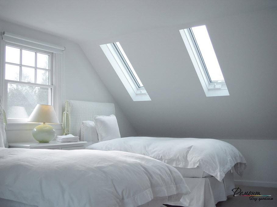 Мансардные окна классического типа