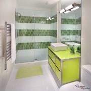 Яркий интерьер создан при помощи мебели яркого цвета