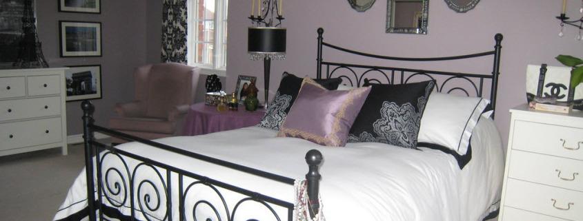 Фиолетовая палитра для спальни