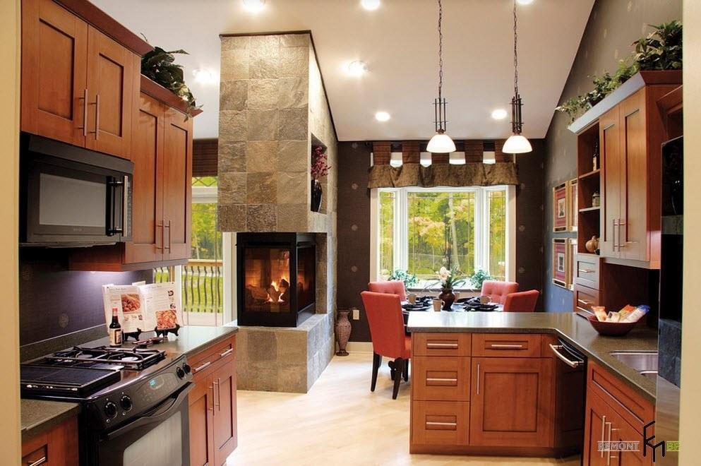 Камин для кухни и гостиной
