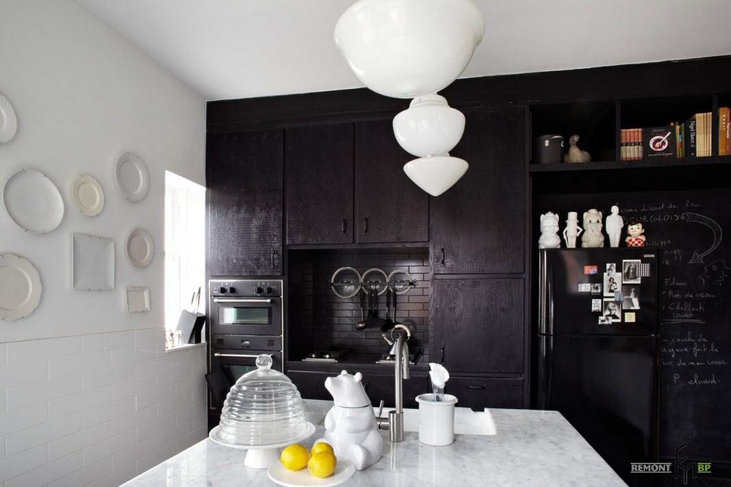 Черная зона кухни