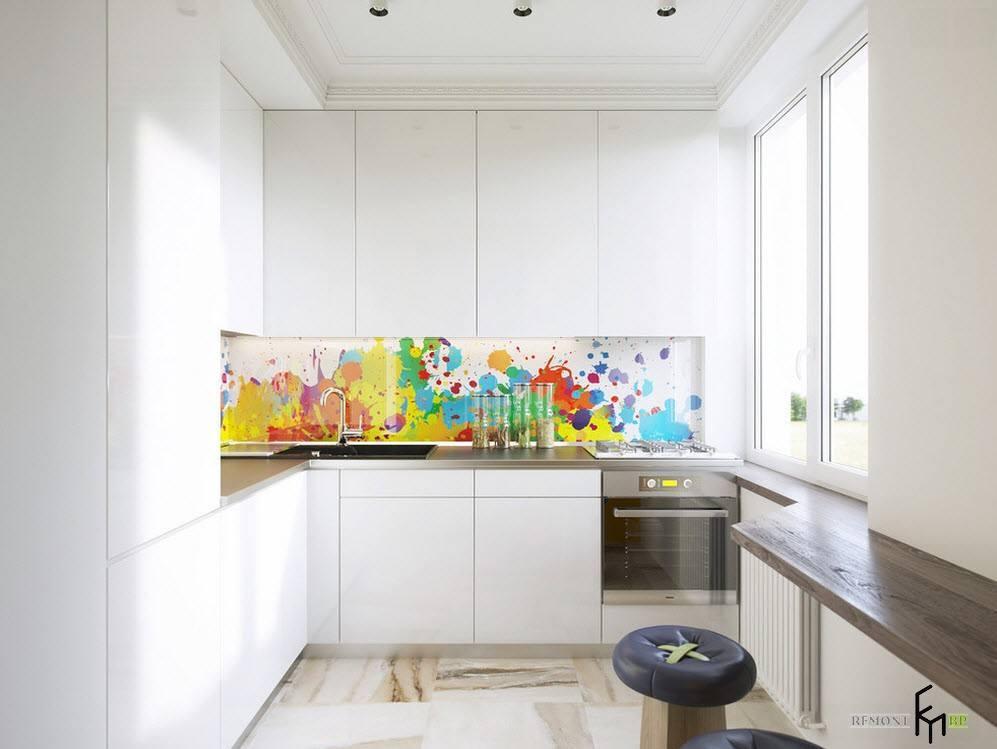 Белый минимализм для маленького помещения