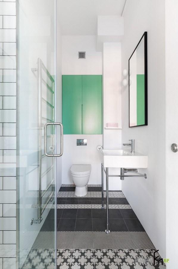 Белый туалет в стиле лофт
