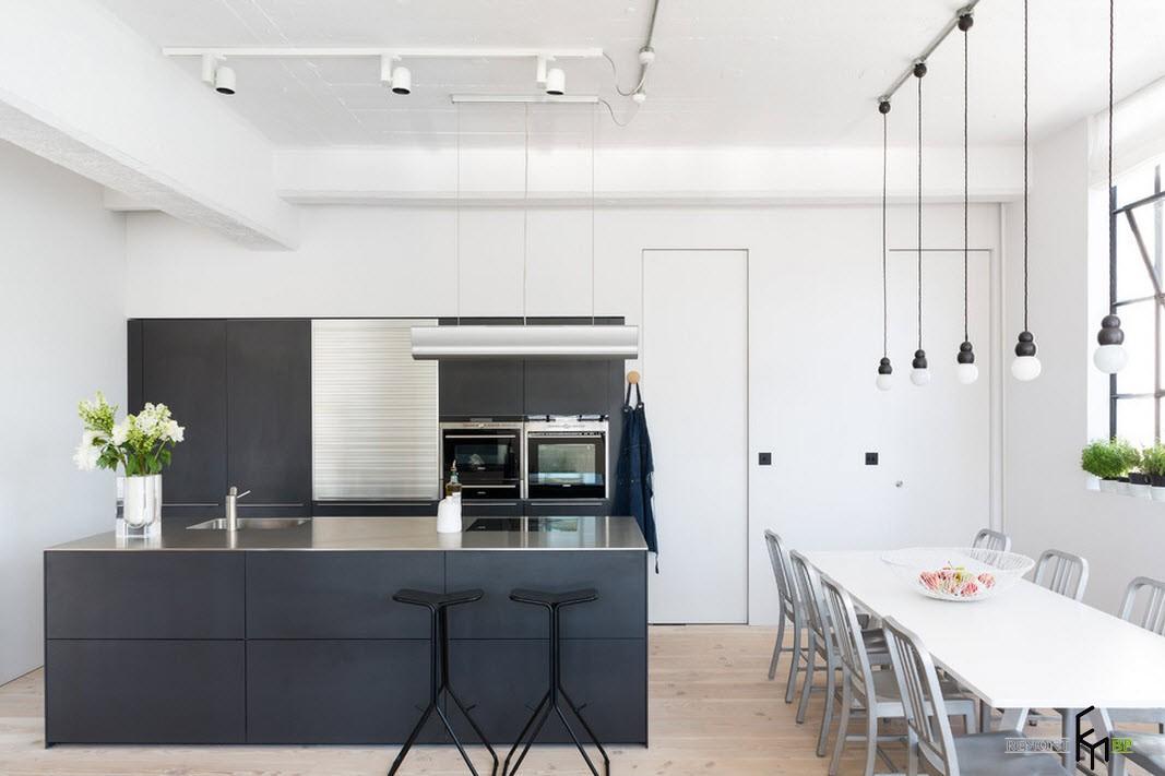 Цветовой ансамбль кухни и обеденной зоны