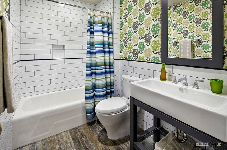 Традиционная занавеска для ванной