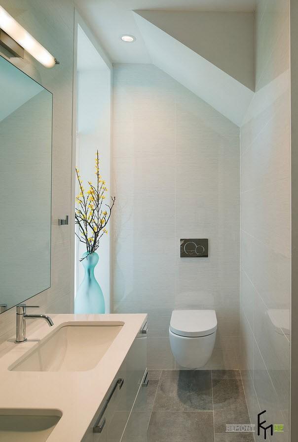 Светлая палитра туалета