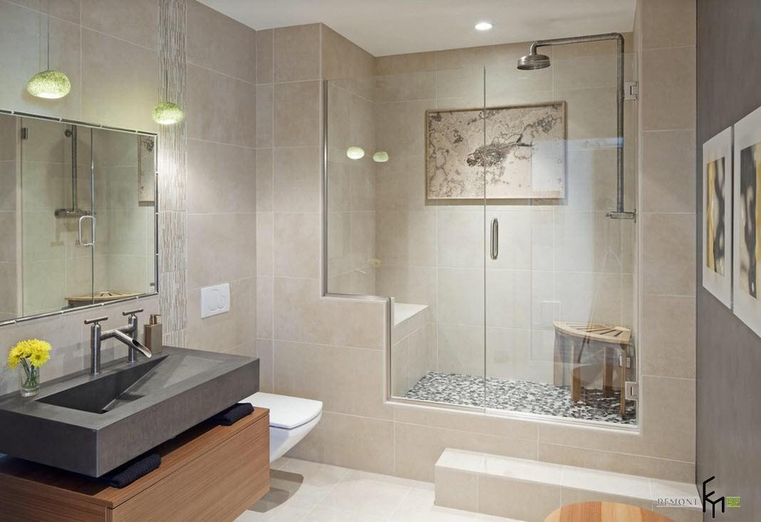 Ванная комната в техностиле