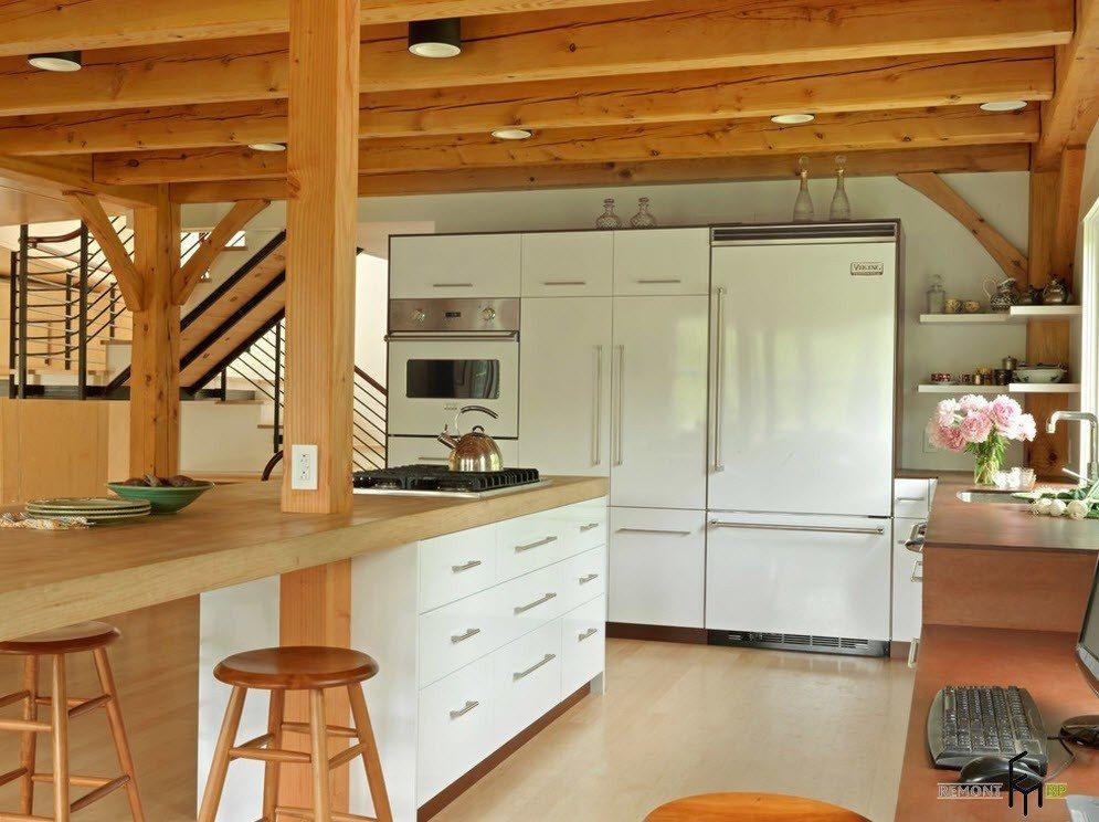 Светлая порода для белой кухни
