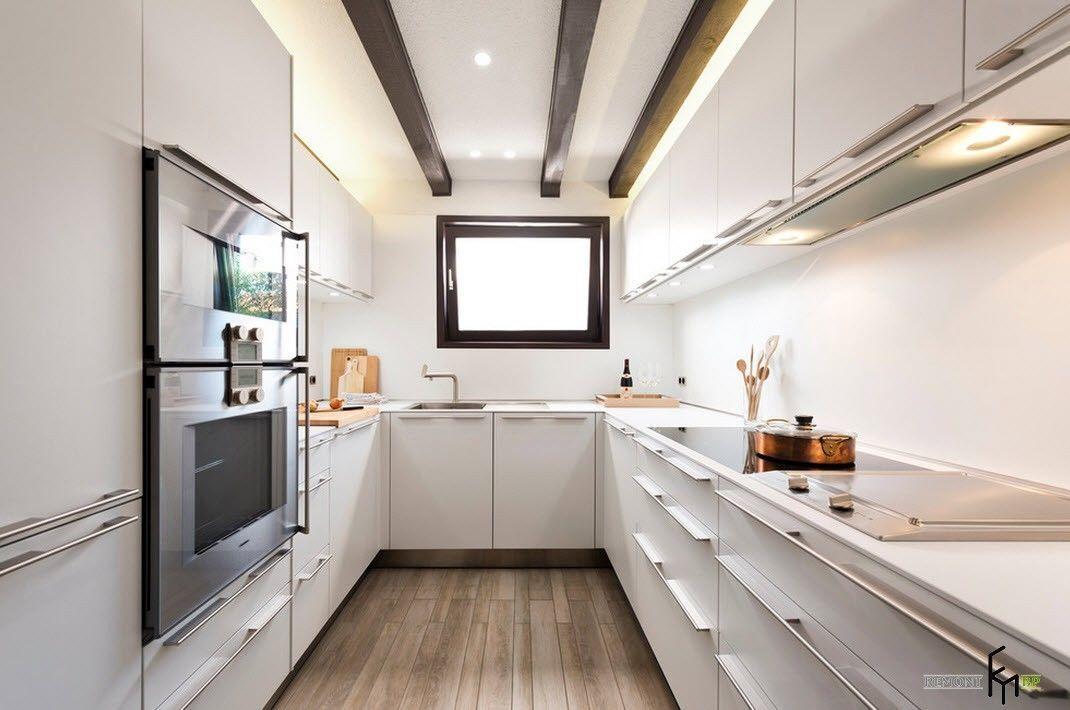 Узкая и длинная кухня