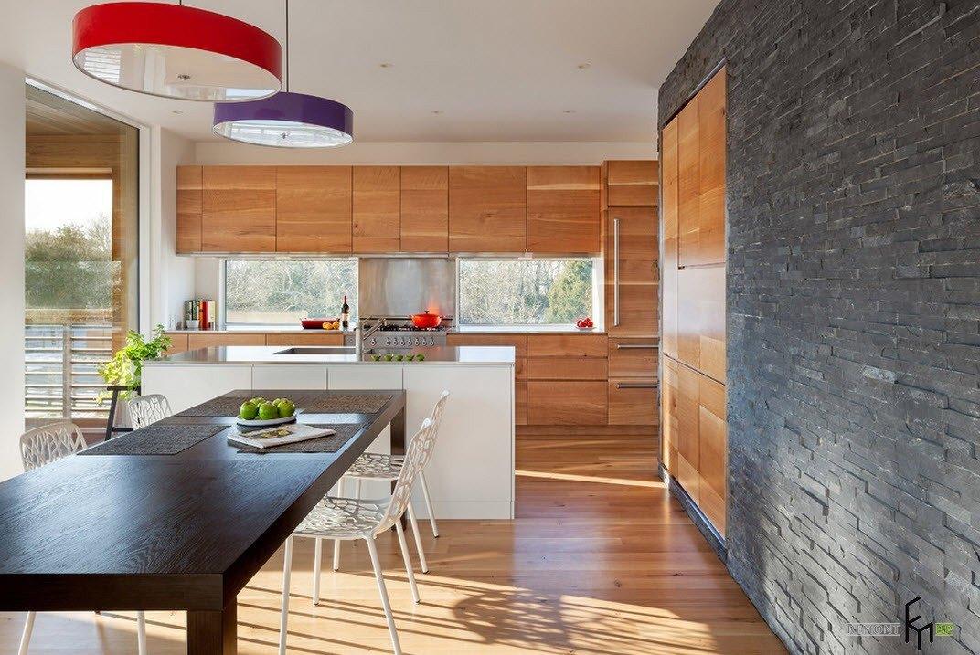 Серый и рыжий в кухонном дизайне
