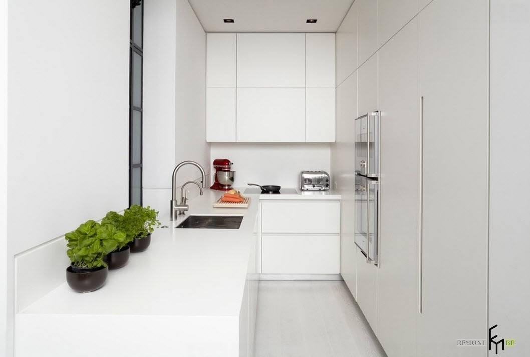 Маленькое помещение кухни