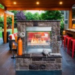 Оригинальный дизайн-проект летней кухни с камином