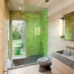 Отделка душевой в современной ванной комнате