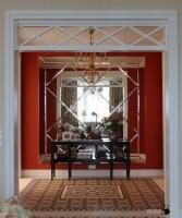 Дизайн квартиры с красным холлом