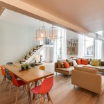 Творческий, но практичный дизайн двухуровневой квартиры-студии