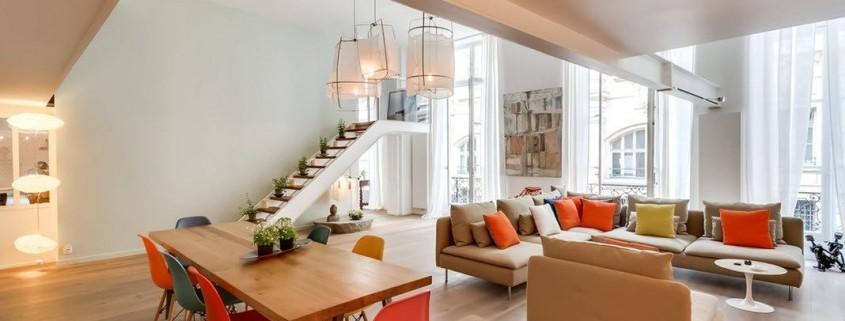 Дизайн квартиры-студии с двумя уровнями