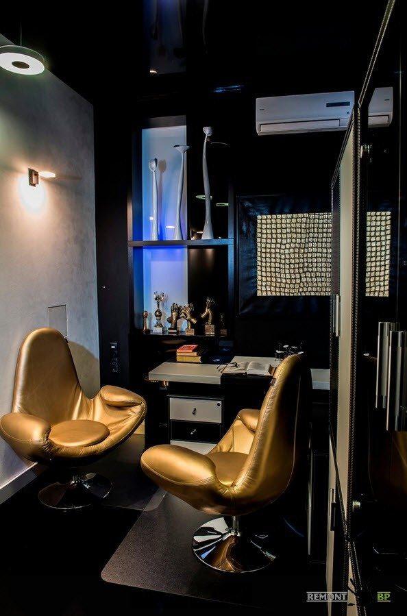 Золотые кресла для рабочей зоны