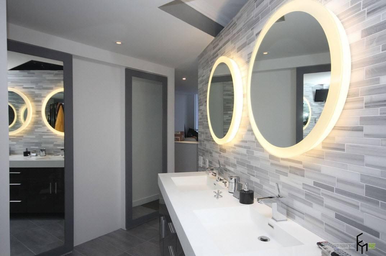 Круглые зеркала с подсветкой