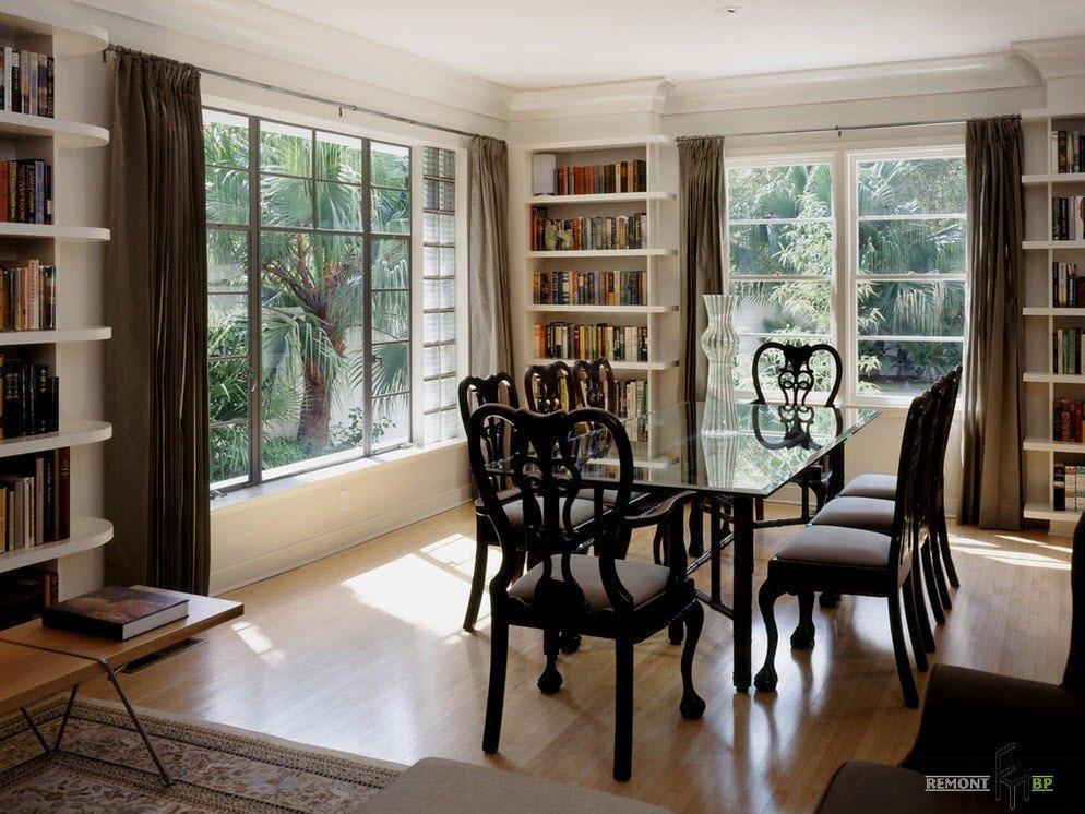 100 лучших идей: стол и стулья в гостиной на фото, Обеденная зона в зале