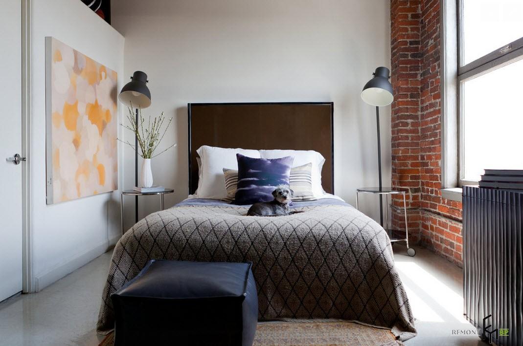 Прикроватные светильники для спальни в стиле лофт