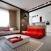 Контрастный дизайн киевской квартиры
