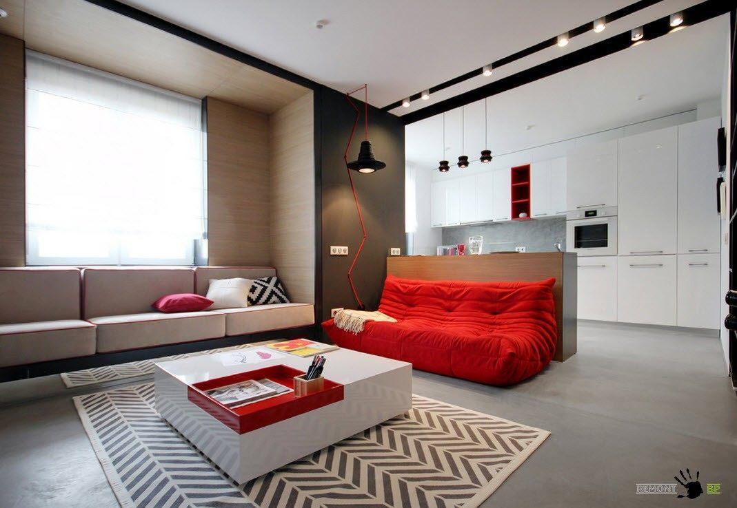 Меблировка гостиной в квартире-студии