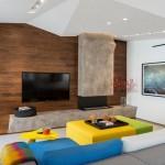Яркий и неординарный дизайн квартиры в стиле фьюжн